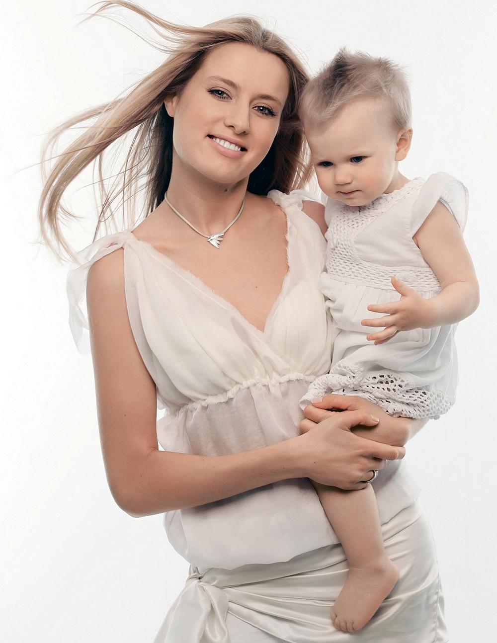 Ольга Горбачева с дочерью