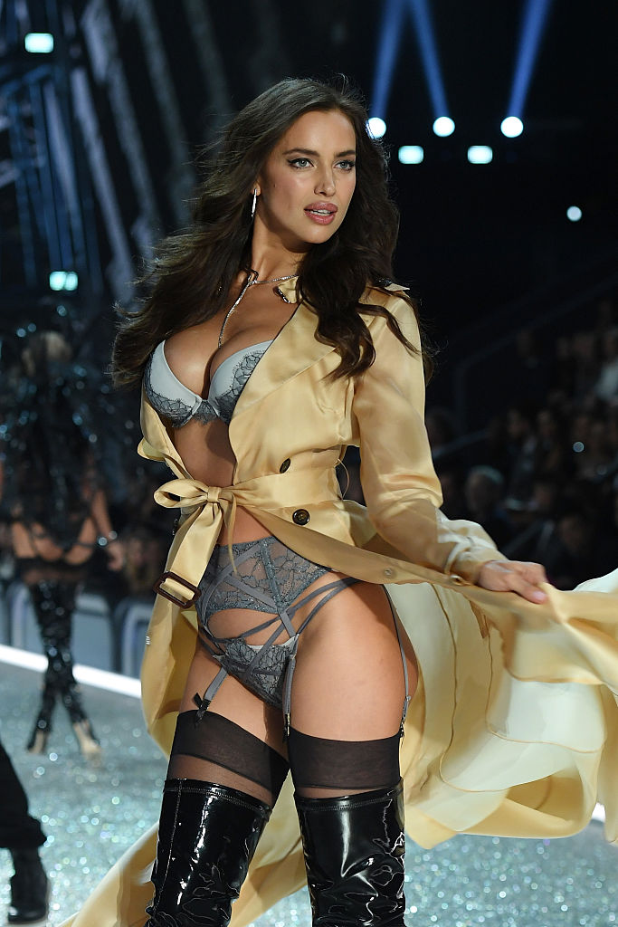 PARIS, FRANCE - NOVEMBER 30: Irina Shayk walks the runway during the 2016 Victoria's Secret Fashion Show on November 30, 2016 in Paris, France. (Photo by Dimitrios Kambouris/Getty Images for Victoria's Secret)
