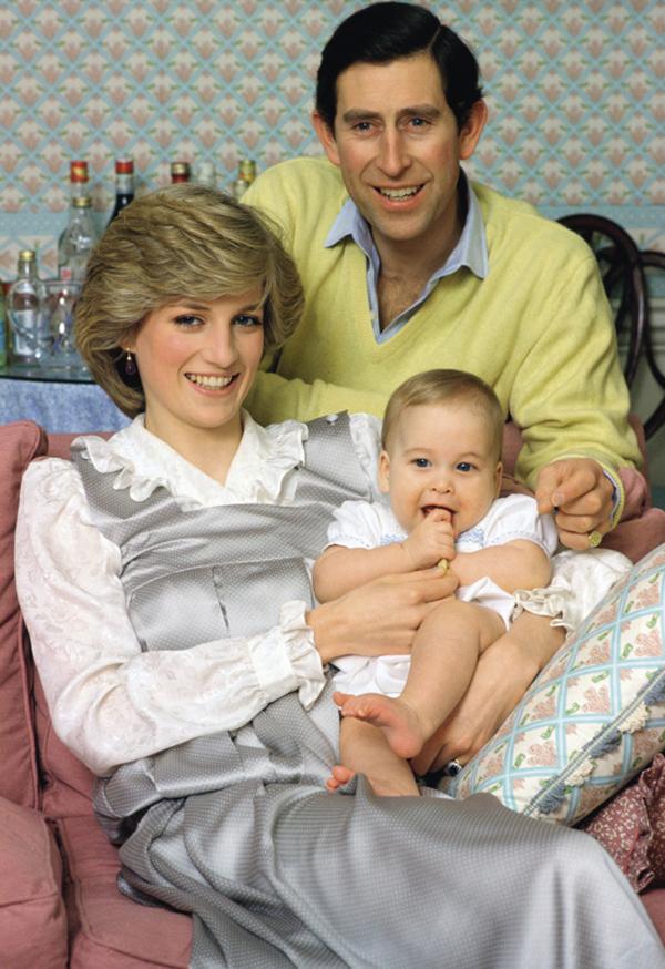 Принц Чарльз, принцесса Диана, принц Уильям