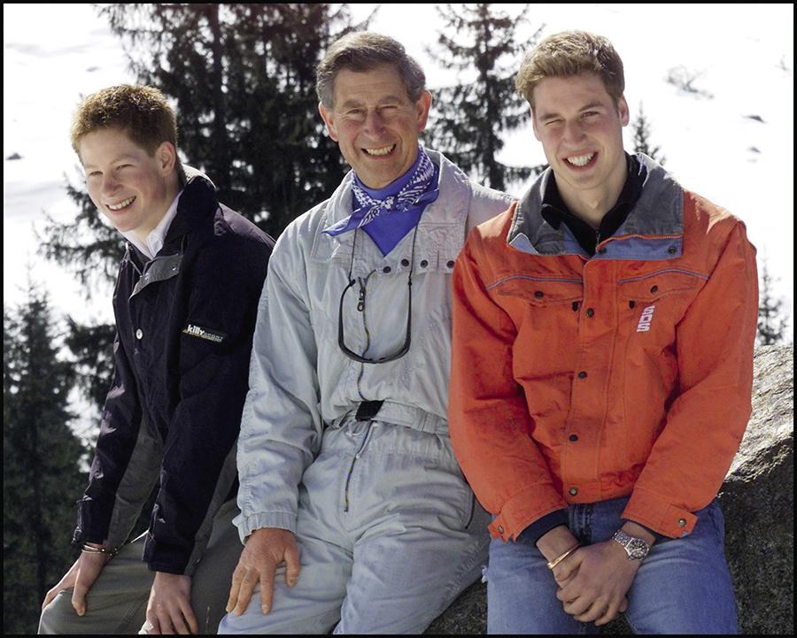 Принц Уильям, принц Гарри, принц Чарльз