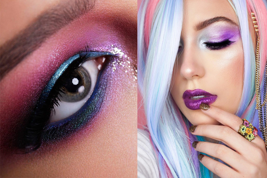 unicorn makeup, единорог