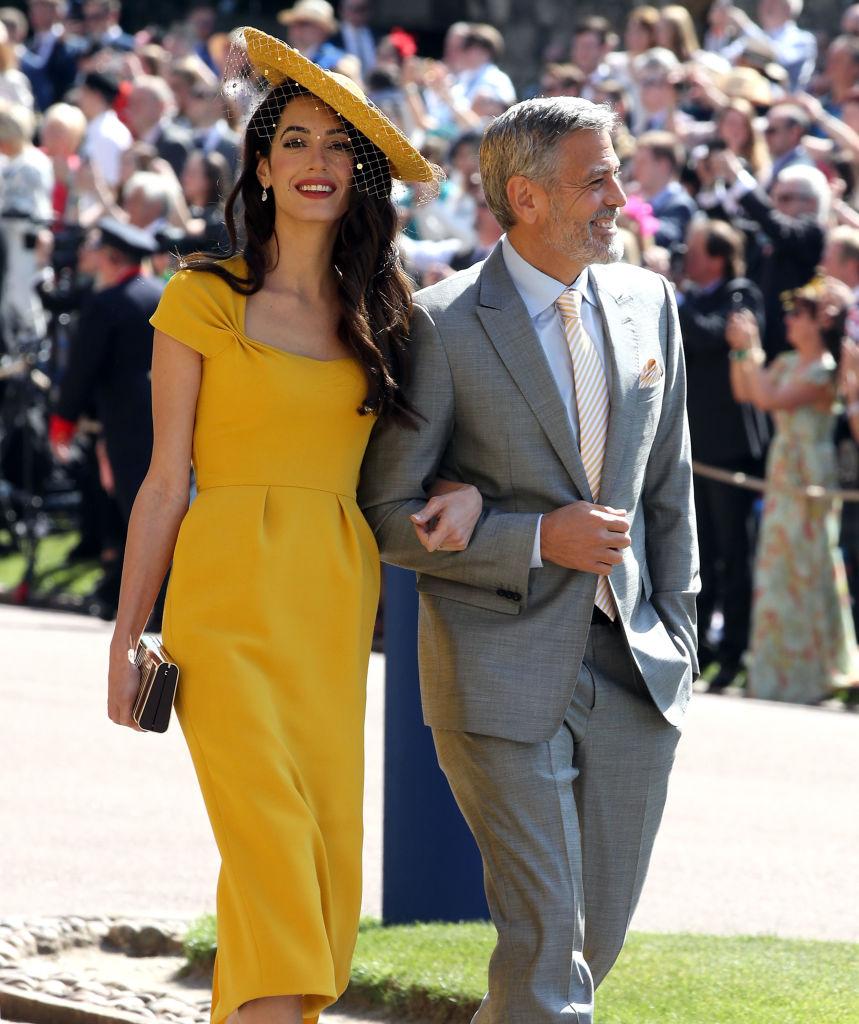 Джордж и Амаль Клуни на свадьбе принца Гарри