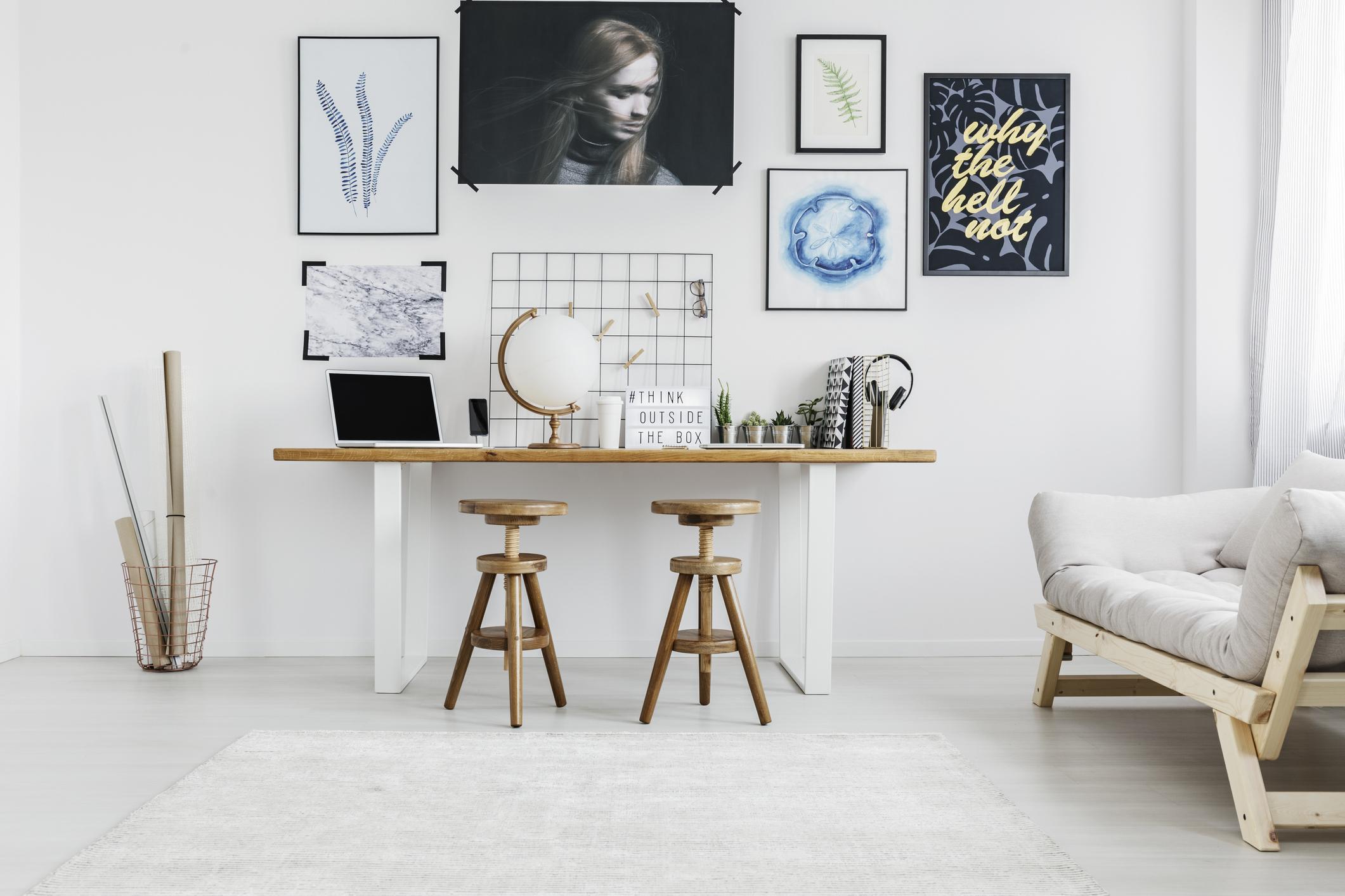 интерьер офиса дома