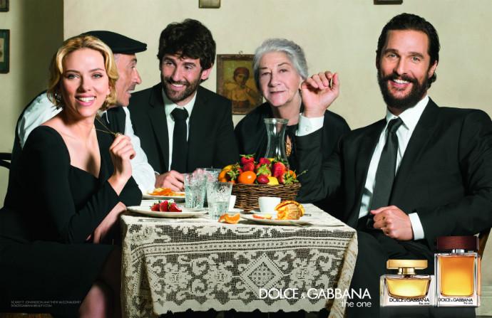 Dolce & Gabbana Йоханссон Макконахи