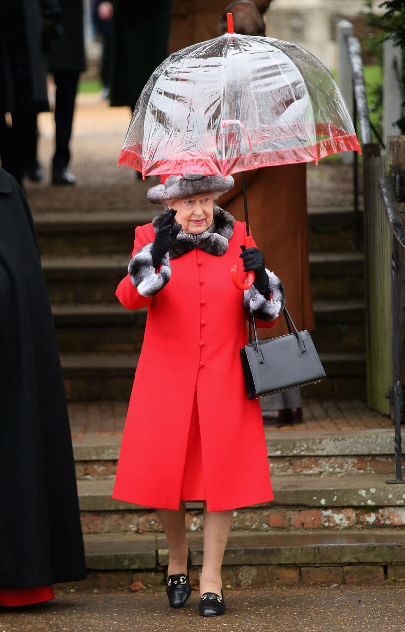 attends a Christmas Day church service at Sandringham on December 25, 2015 in King's Lynn, England.