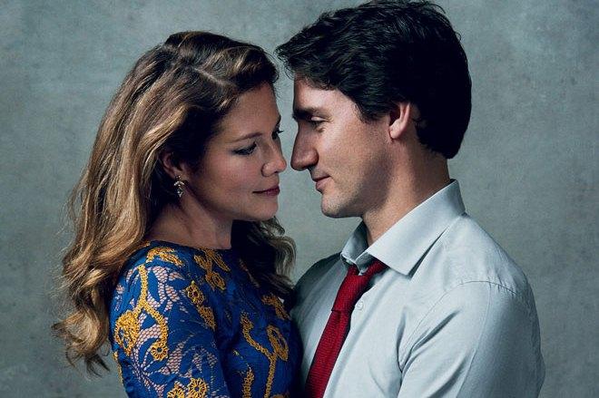 Джастин Трюдо с женой