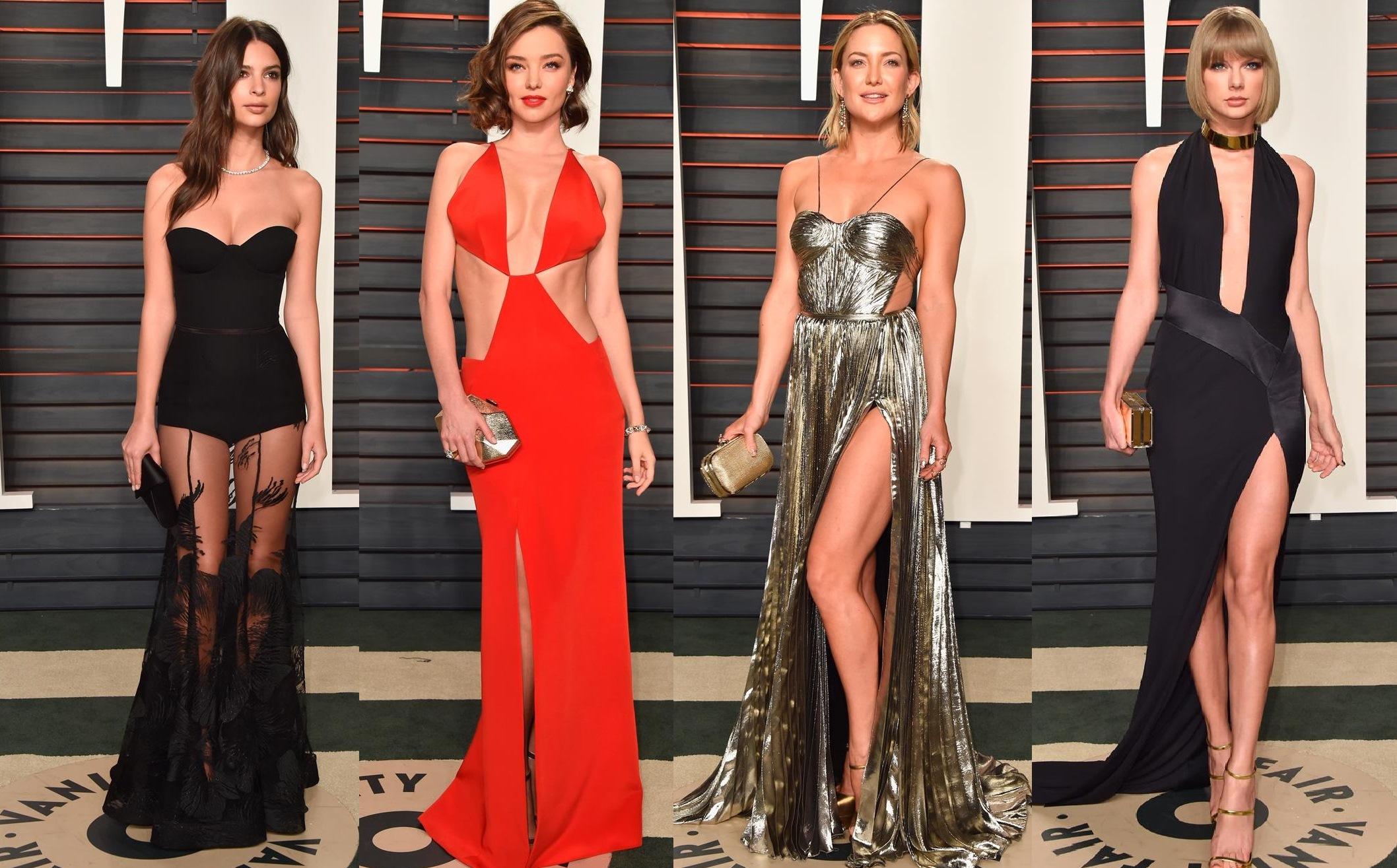 В откровенных платьях на вечеринках