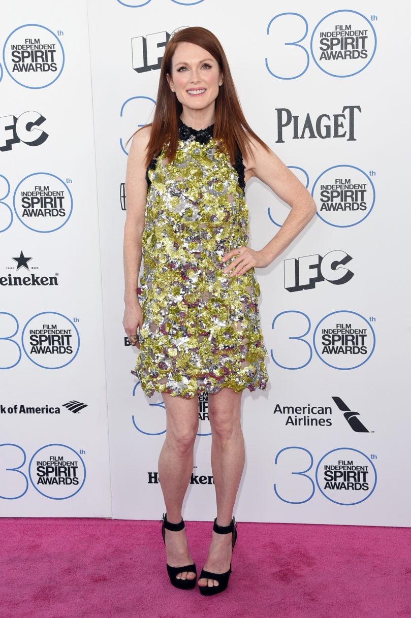 SANTA MONICA, CA - FEBRUARY 21: Actress Julianne Moore attends the 2015 Film Independent Spirit Awards at Santa Monica Beach on February 21, 2015 in Santa Monica, California. (Photo by Jason Merritt/Getty Images)