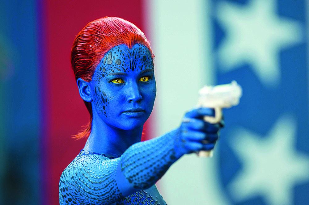 Дженнифер Лоуренс в фильме «Люди Икс: первый класс», 2011 г.
