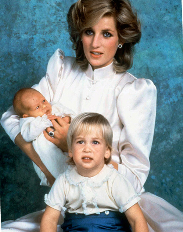 Принцесса Диана принц Уильям принц Гарри