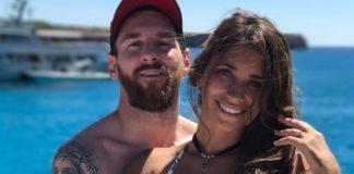 Лионель Месси с женой