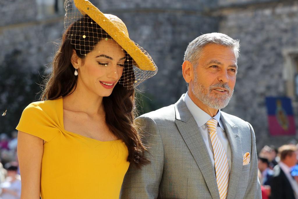 Джордж и Амаль Клуни на свадьбе принца Гарри и Меган Маркл   Караван