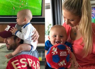 Курникова и Иглесиас с детьми