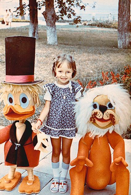 Катерина Кухар в детстве