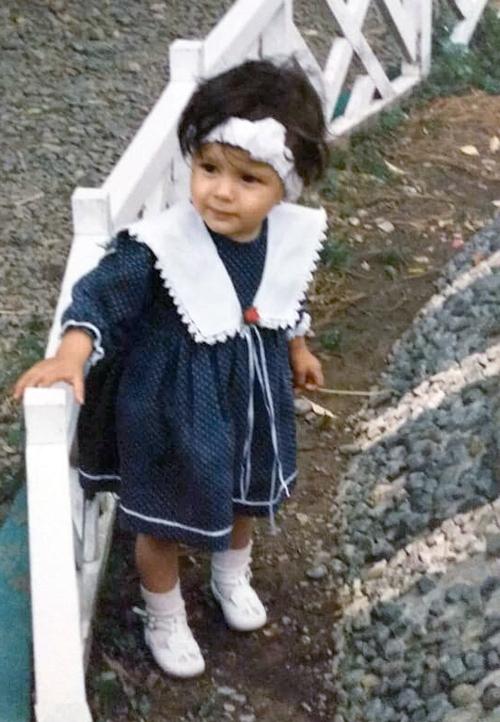 Мишель Андраде в детстве