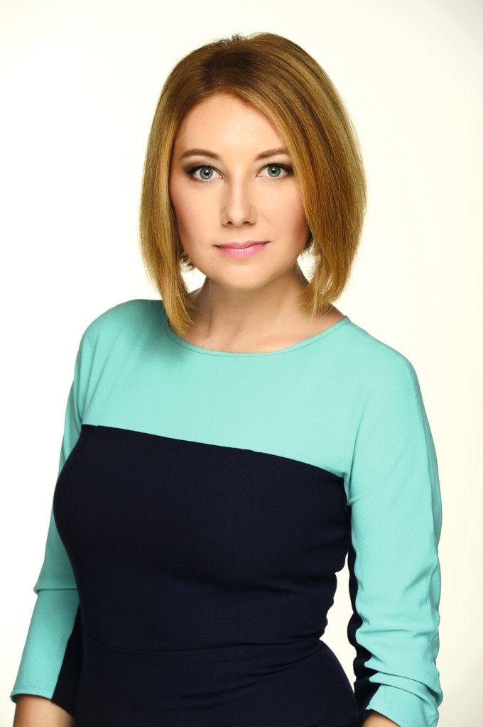 Ольга Кучер, ведущая программы «Вікна-новини» на телеканале СТБ