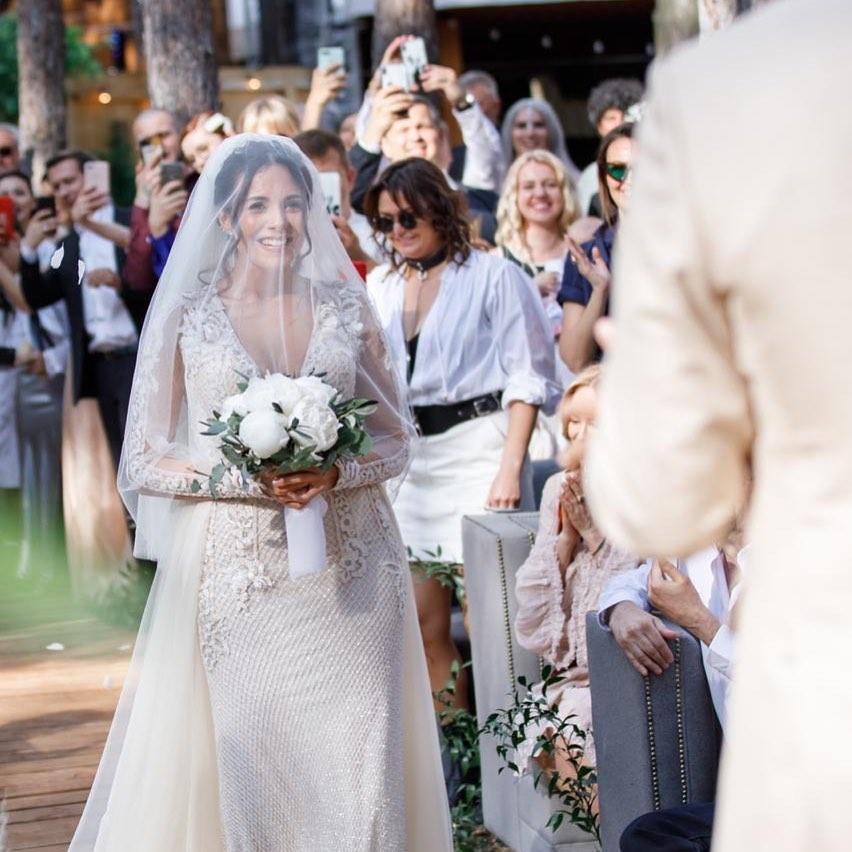 свадебное платье Насти Каменских