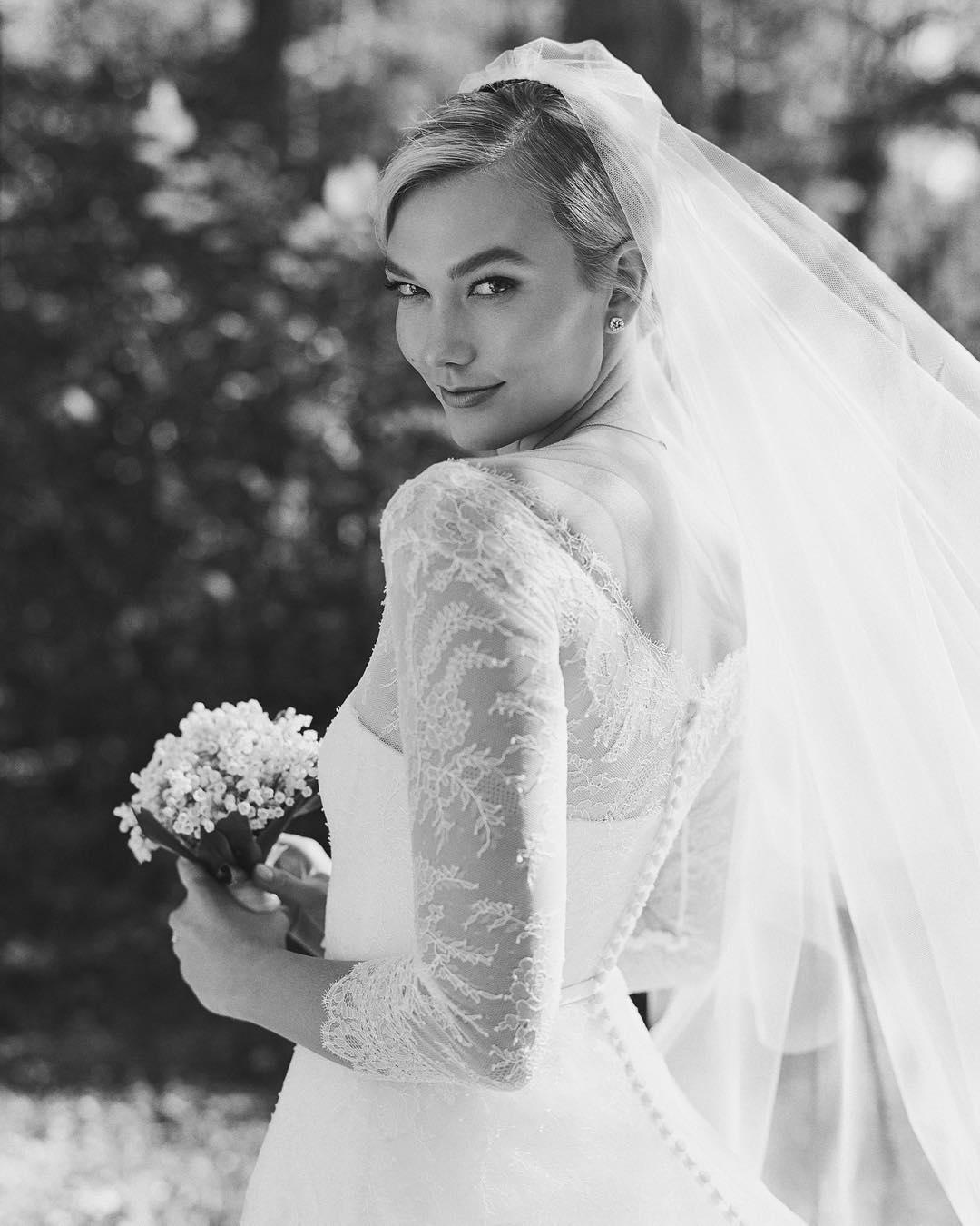 свадебное платье Карли Клосс