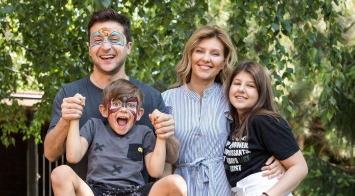 Зеленский с женой и детьми