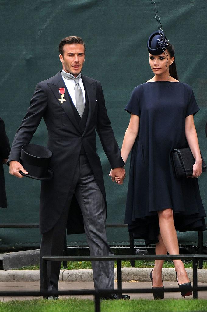 Дэвид и Виктория Бекхэм на свадьбе принца Уильяма