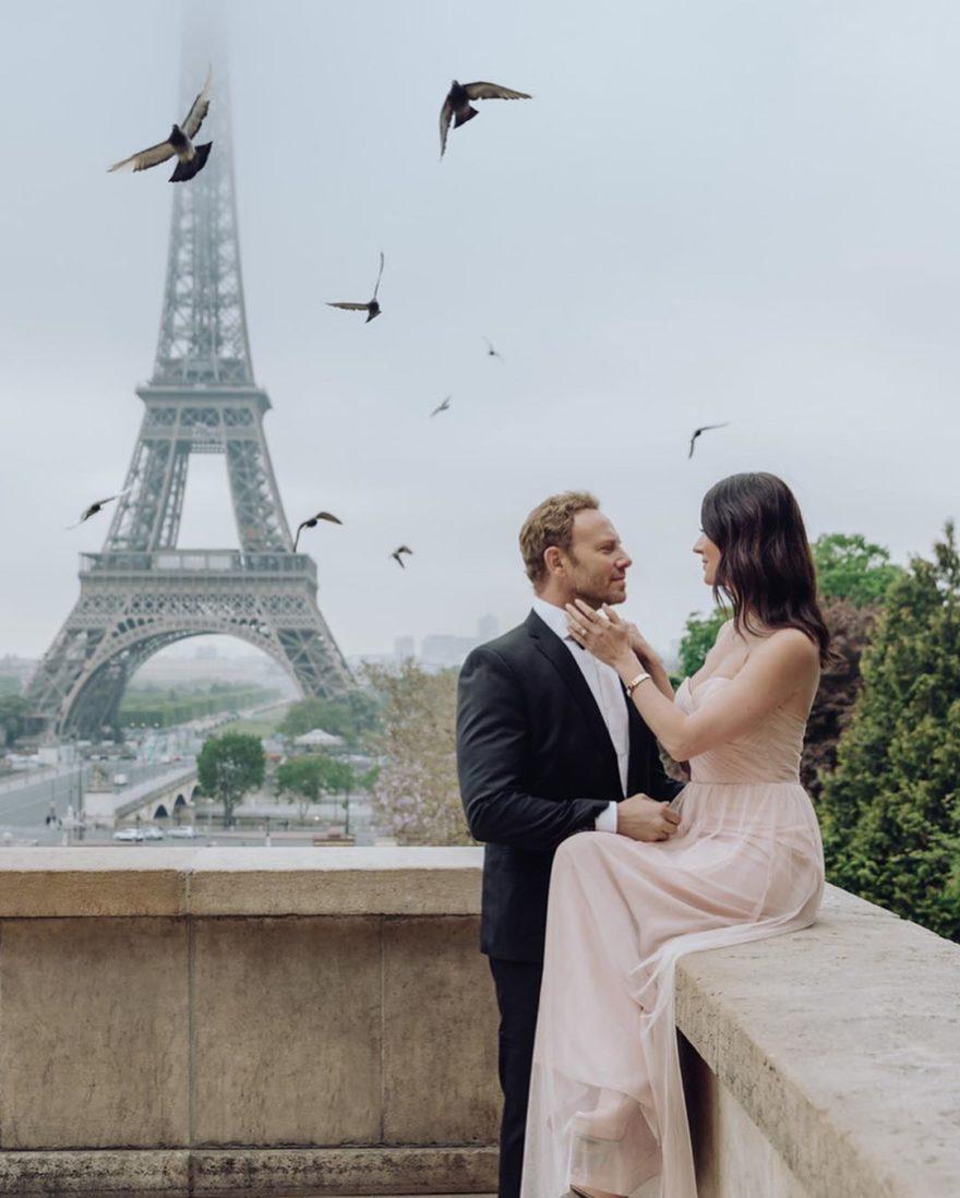 Ян Зиринг с женой в Париже