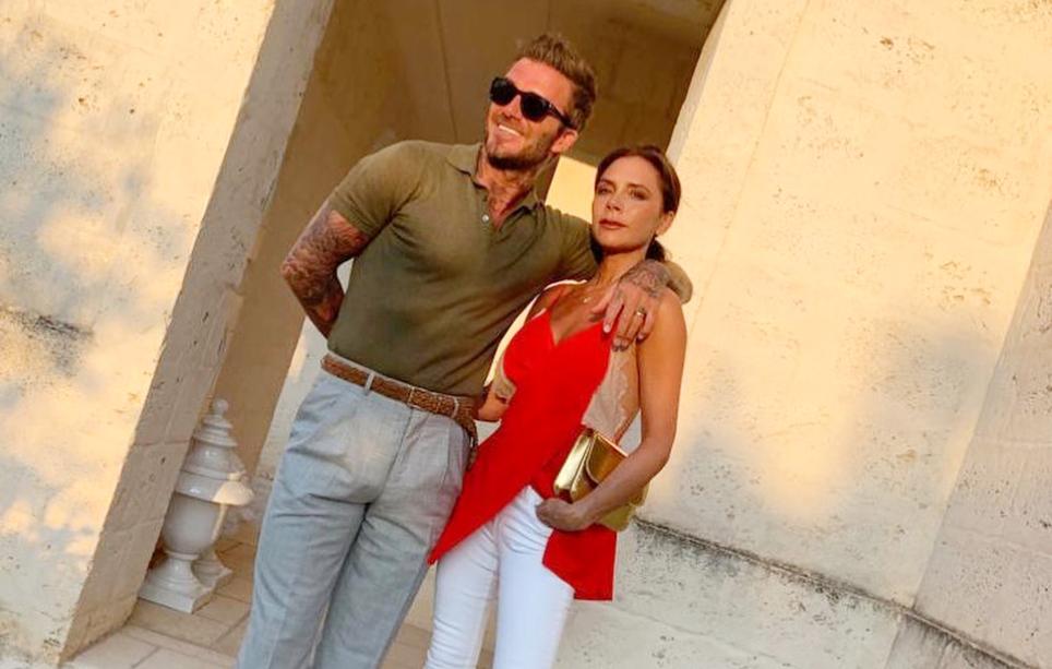 Дэвид и Виктория Бекхэмы в Италии