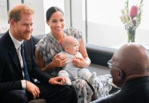 Меган и Гарри с сыном Арчи