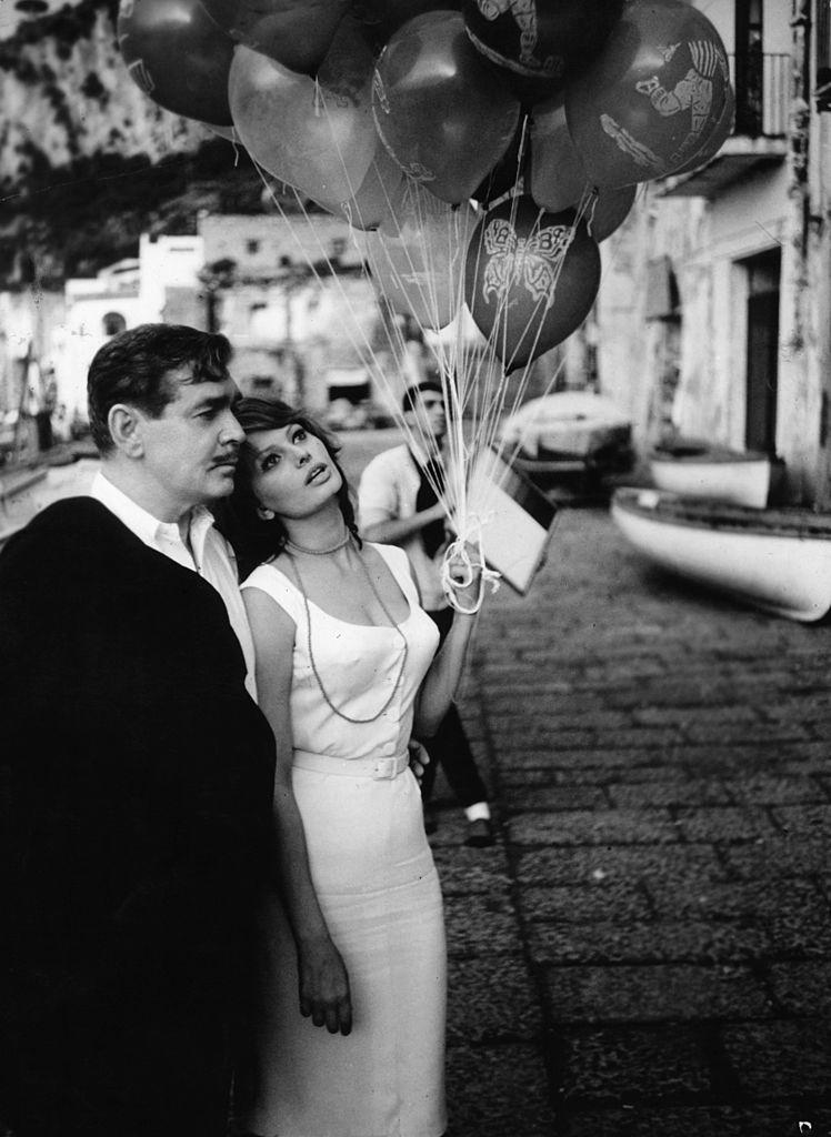 Кларк Гейбл и Софи Лорен в фильме «Это началось в Неаполе», 1960 год