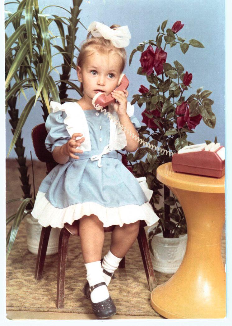 Ксения Мишина в детстве