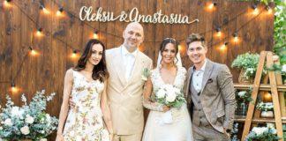 Остапчук с женой на свадьбе у Потапа и Насти