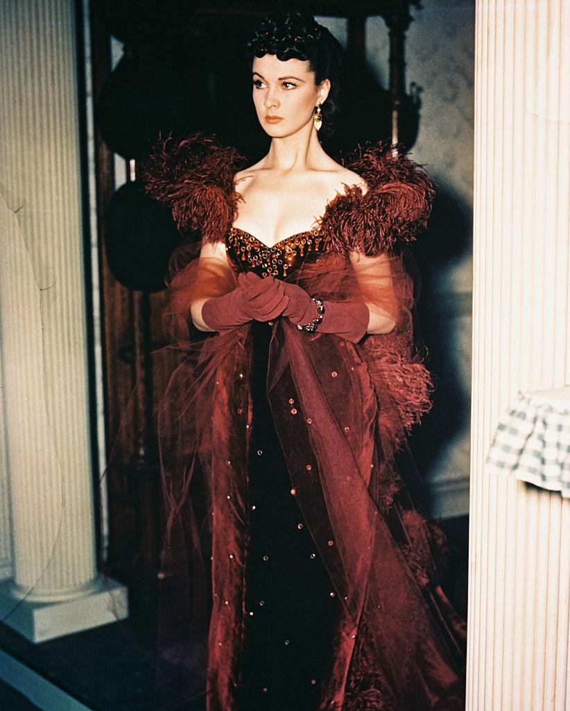 Вивьен Ли красное платье скарлетт охара