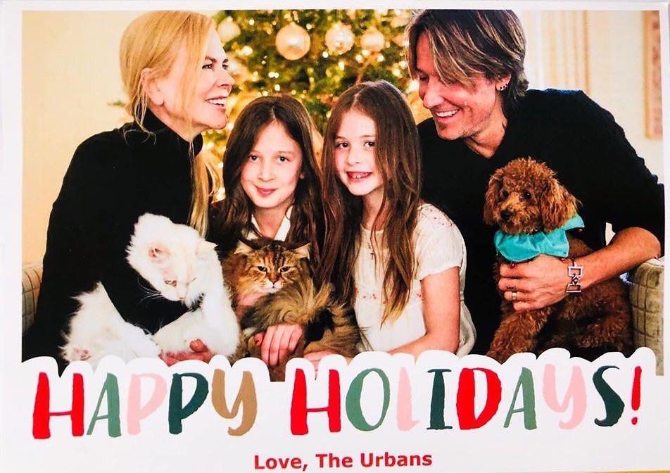Николь Кидман с мужем и детьми