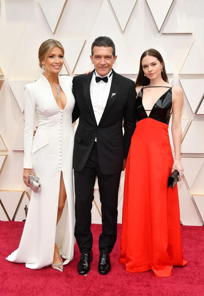 Антонио Бандерас с женой и дочерью
