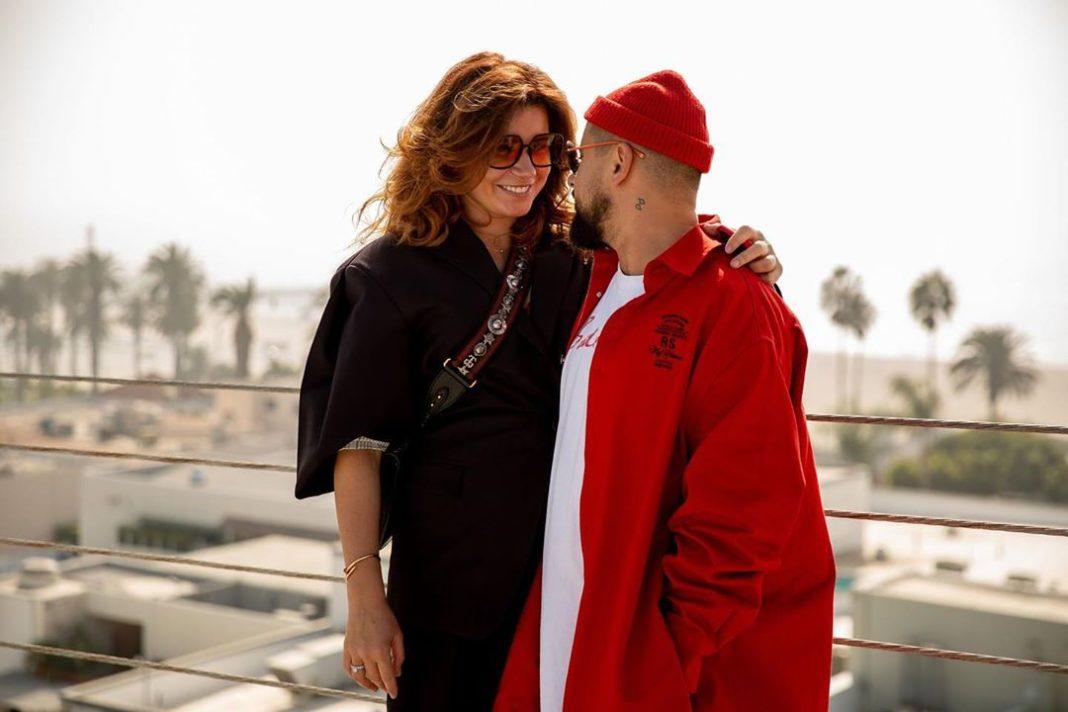 Дима Монатик с женой
