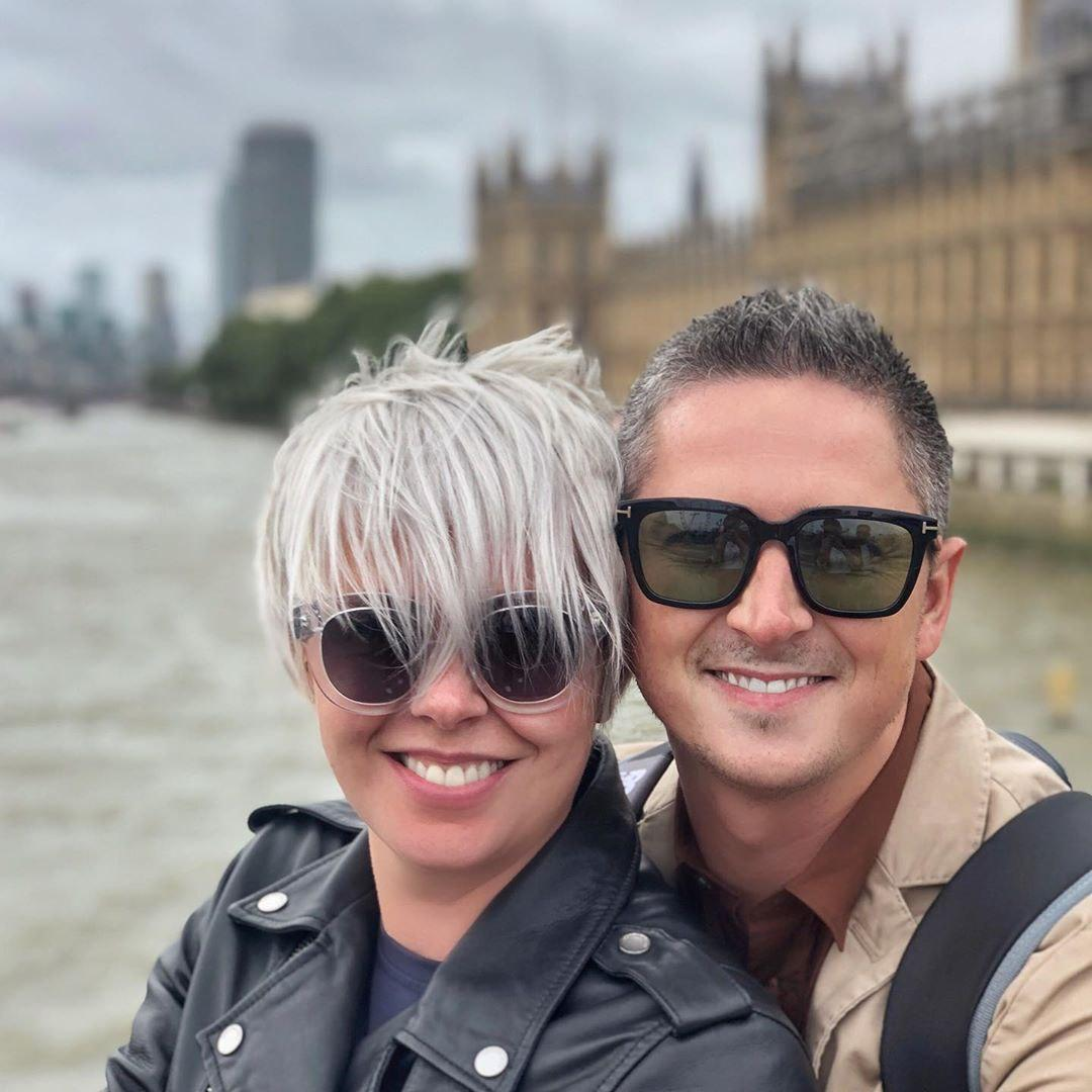 Александр Педан с женой