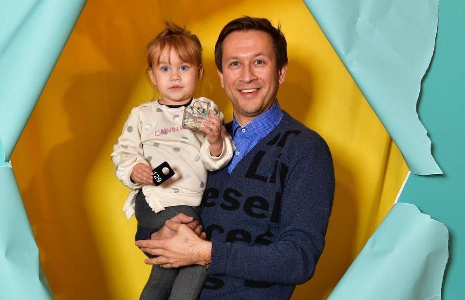 Дмитрий Ступка с дочкой