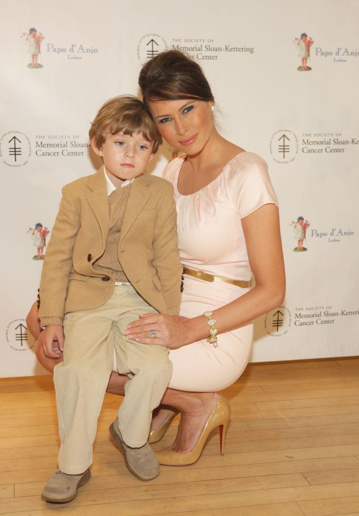 Мелания Трамп с сыном