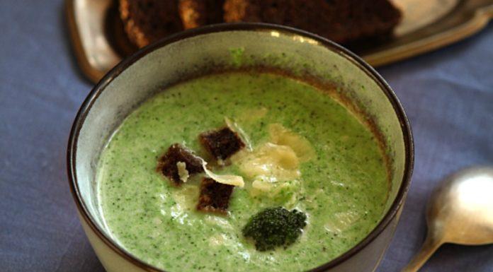 Суп-пюре с брокколи рецепт