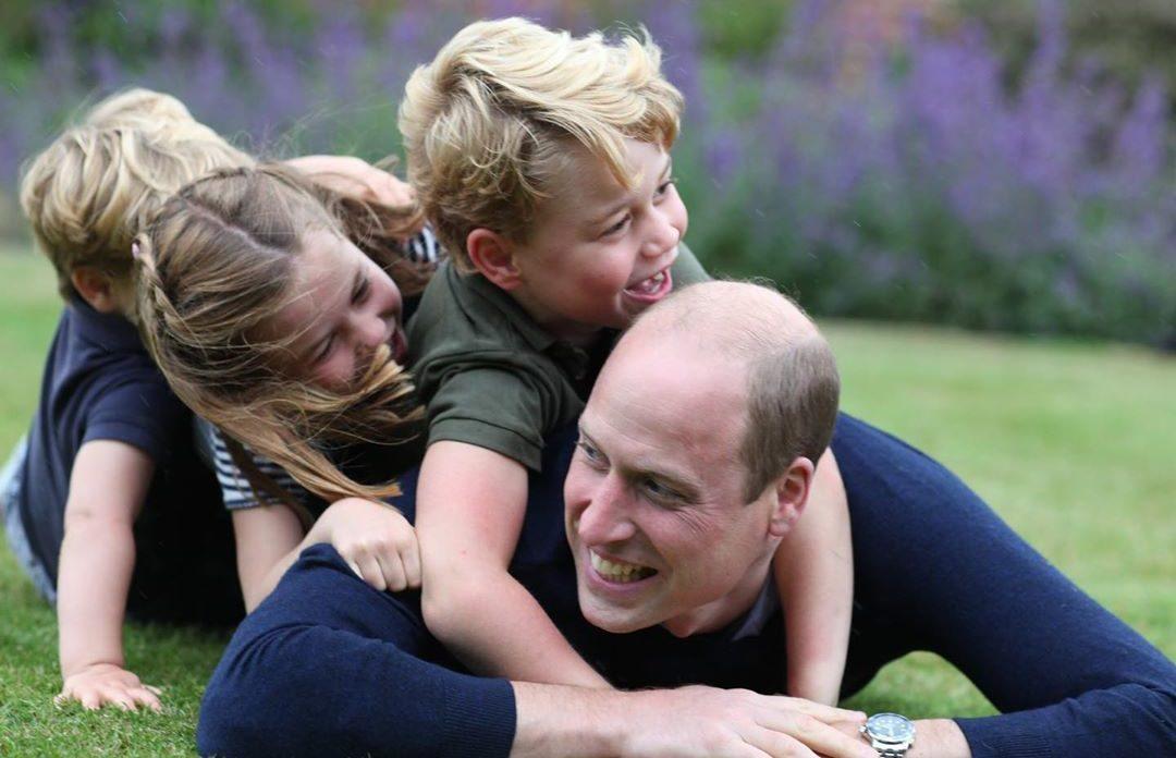 Кейт Миддлтон сделала фото принца Уильяма со всеми детьми в честь ...