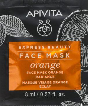 натуральная маска для лица с эффектом сияния с апельсином