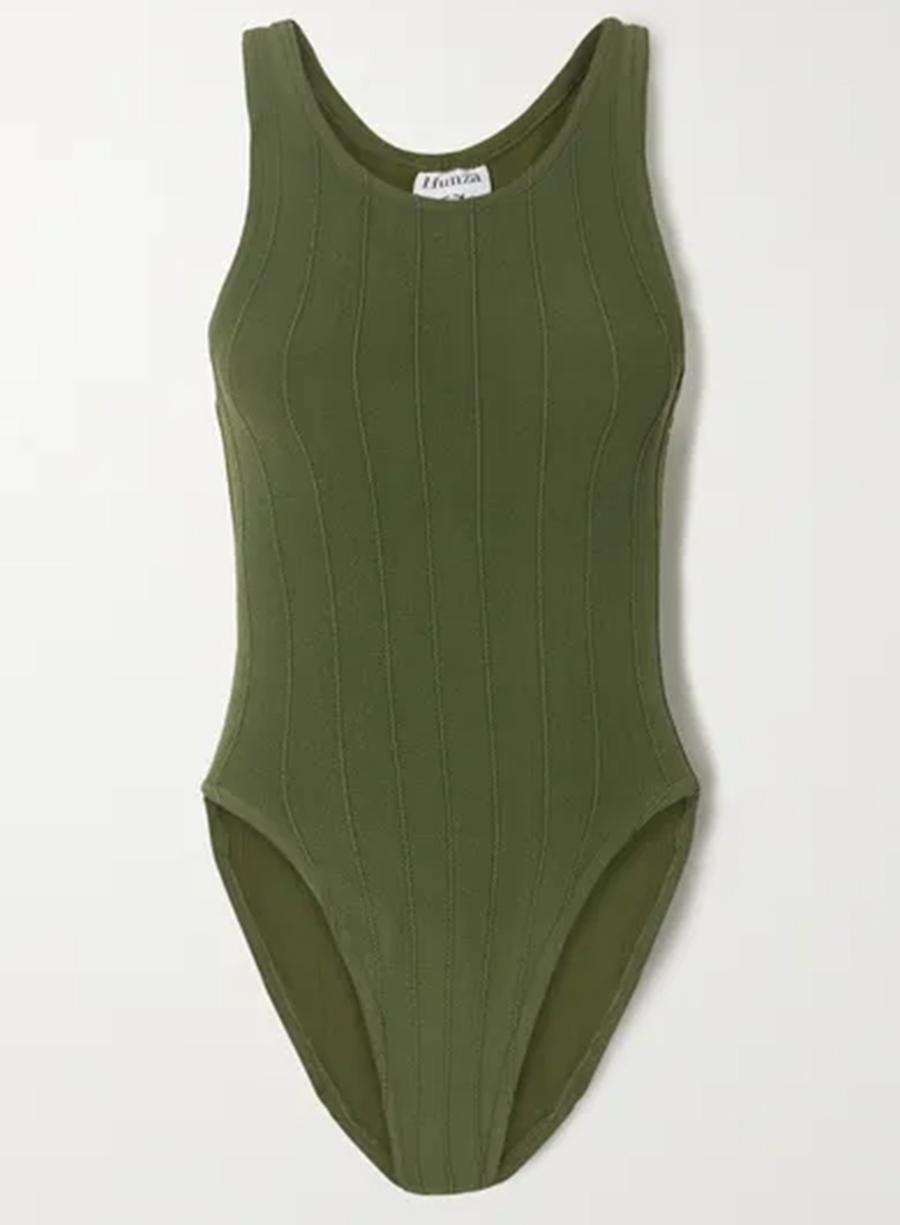 слитный сдельный купальник мнокини зеленый в бельевом стиле самые модные купальники лето 2020