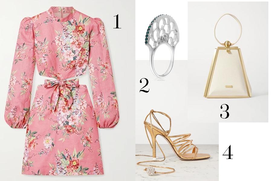 модное плвтье с цветочным принтом в цветах розовый с рукавом лето 2020