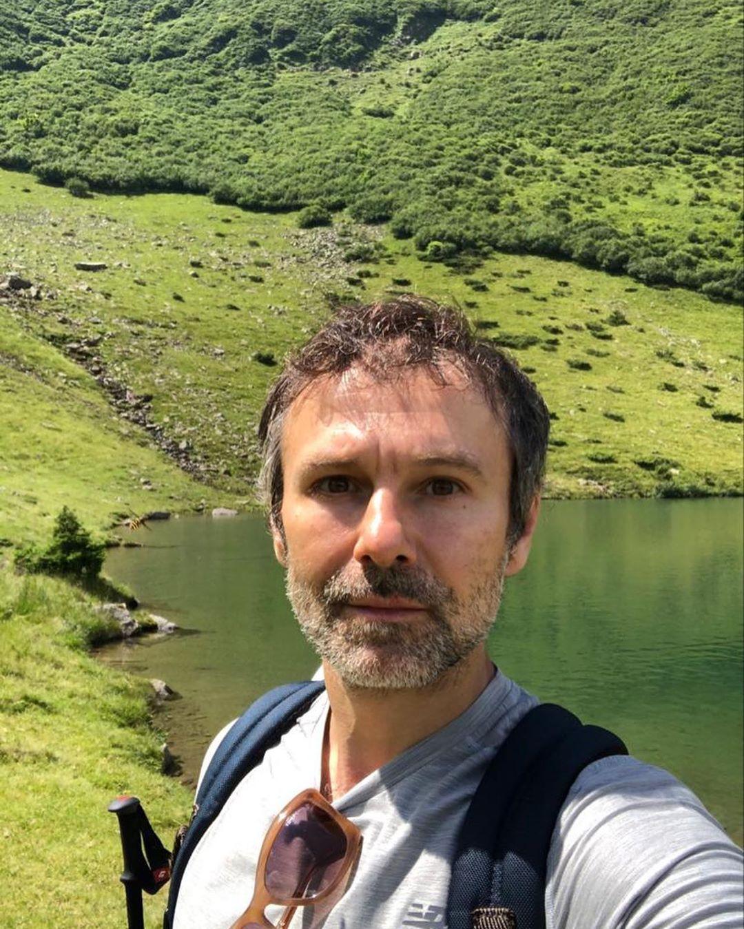 Святослав Вакарчук на отдыхе в Карпатах