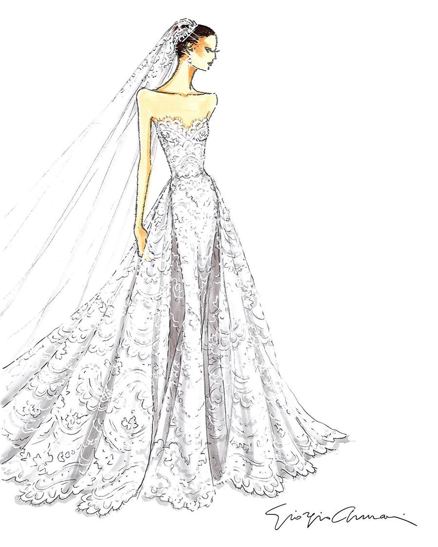 свадьба крис пратт кэтрин шварценеггер свадебное платье кружевное без бретелей модное армани giorgio armani