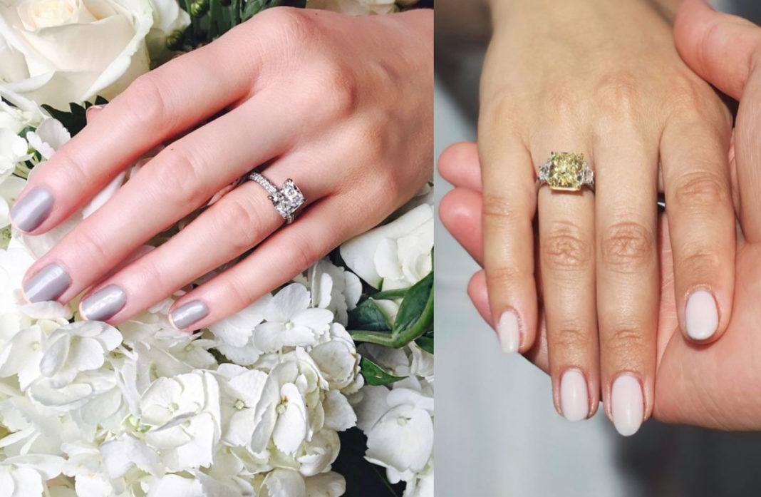 Помолвочные обручальные кольца с бриллиантами
