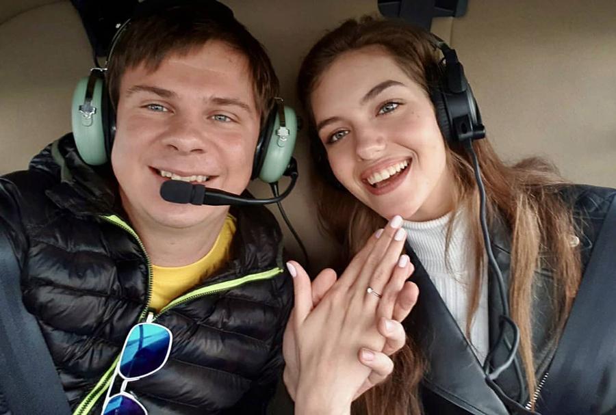 Дмитрий комаров александра кучеенко мисс украина предложение помолвка свадьба