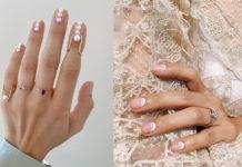 свадебный маникюр 2020 идеи френч обмре женчуг золото серебро