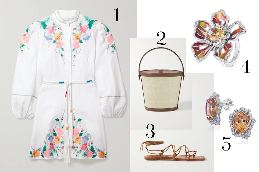 модное плвтье с цветочным принтом в цветах с вышивкой белое с рукавом лето 2020