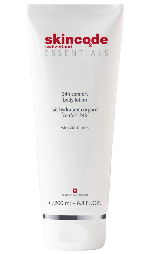 Ультраувлажняющий и питательный лосьон для тела Essentials 24h comfort, Skincode
