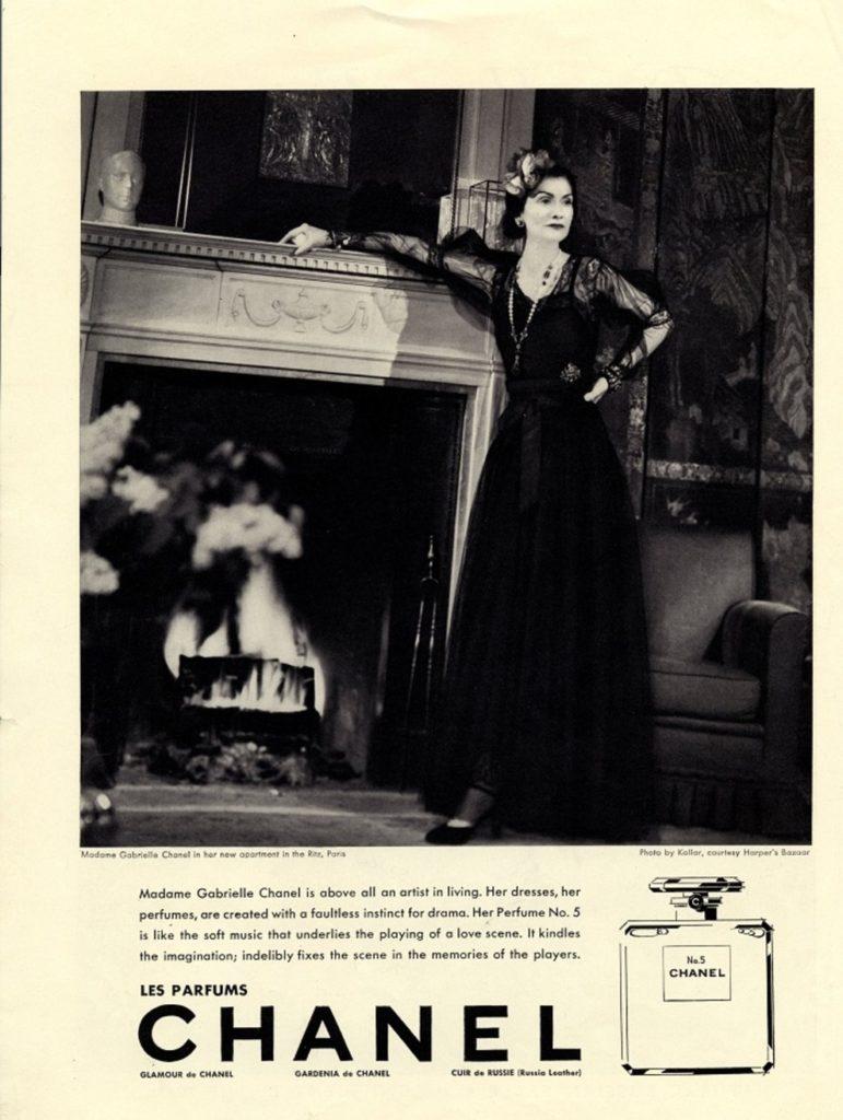 Габриэль Шанель, 1937 год в рекламе Chanel № 5